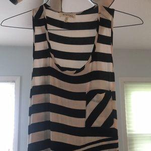 Black and White stripe tank top maxi dress